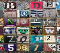 Fabricated Alphabet